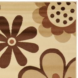 Safavieh Porcello Fine-spun Daises Floral Ivory/ Brown Area Rug (8' x 11'2) - Thumbnail 1