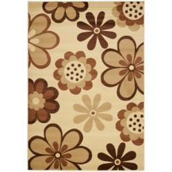 Safavieh Porcello Fine-spun Daises Floral Ivory/ Brown Area Rug (8' x 11'2)