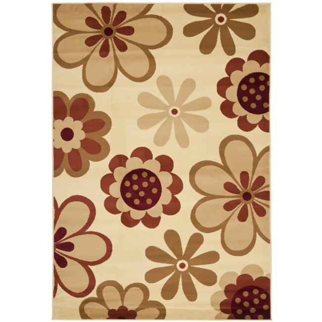Safavieh Porcello Fine-spun Daises Floral Ivory/ Red Area Rug - 8' x 11'2