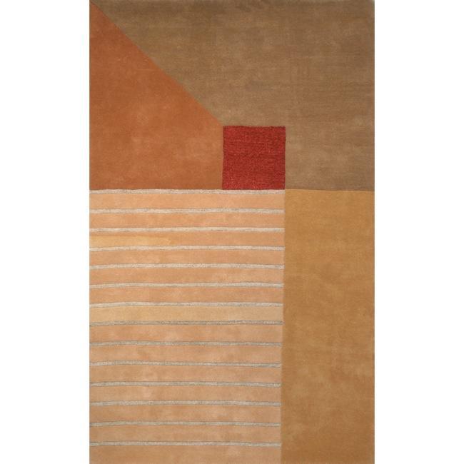 "Safavieh Handmade Rodeo Drive Modern Abstract Multicolored Wool Rug - 7'-6"" X 9'-6"""