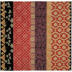 Safavieh Handmade Rodeo Drive Bohemian Collage Rust/ Gold Wool Rug (8' Square)