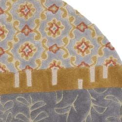 Safavieh Handmade Rodeo Drive Bohemian Collage Multicolored Wool Rug (7'9 Round)