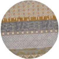 "Safavieh Handmade Rodeo Drive Bohemian Collage Multicolored Wool Rug - na - 7'9"" x 7'9"" round"
