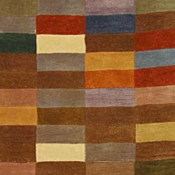 Safavieh Handmade Rodeo Drive Modern Abstract Multicolored Wool Runner Rug (2'6 x 14') - Thumbnail 1