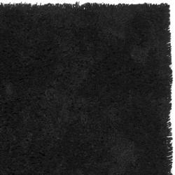 Safavieh Classic Ultra Handmade Black Shag Rug (4' x 6') - Thumbnail 2