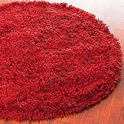 Safavieh Classic Ultra Handmade Rust Shag Rug (4' Round)