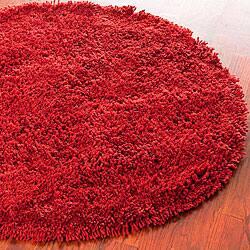 Safavieh Classic Ultra Handmade Rust Shag Rug (4' Round)|https://ak1.ostkcdn.com/images/products/5300705/Hand-woven-Bliss-Rusty-Red-Shag-Rug-4-Round-P13111301.jpg?impolicy=medium