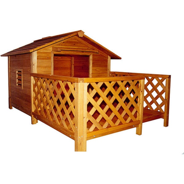 Merry Products Manor Wooden Mansion Dog House