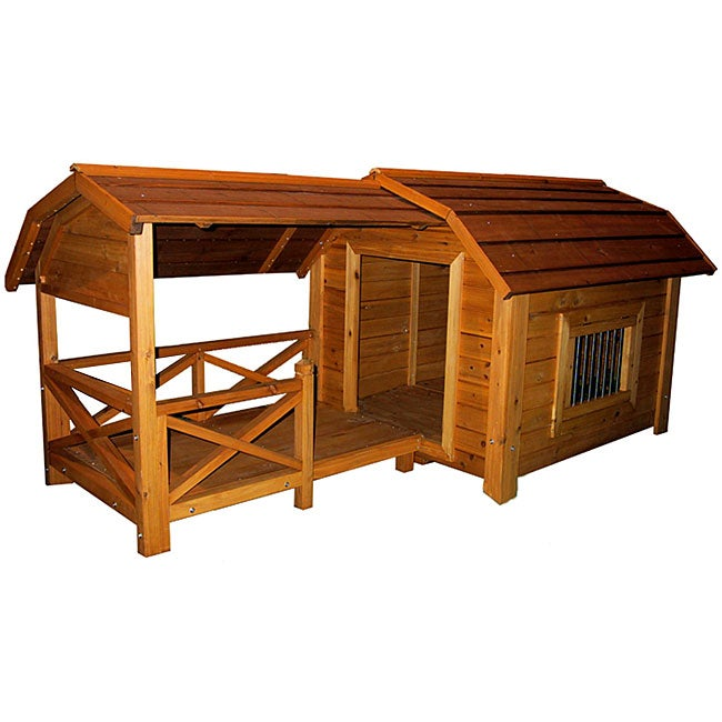 Merry Products Wooden Barn Dog House