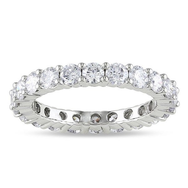 18k White Gold 2ct TDW Diamond Eternity Ring (G-H, SI1-SI2)