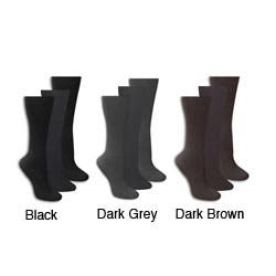 Muk Luks Women's 'Izabella' Microfiber Trouser Socks (3 Pair) (Option: Brown)|https://ak1.ostkcdn.com/images/products/5301288/Muk-Luks-Womens-Izabella-Microfiber-Trouser-Socks-3-Pair-P13111756.jpg?impolicy=medium