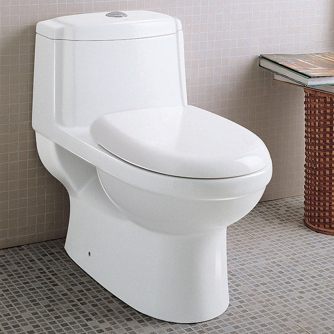 Ariel Platinum (White) 'Anna' Dual Flush toilet