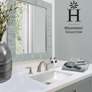 highpoint collection white 19x11 inch undermount ceramic vanity sink