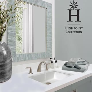 Highpoint Collection White 19x11 Inch Undermount Ceramic Vanity Sink