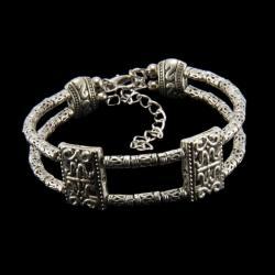 Tibetan Silver Bangle Bracelet (China)