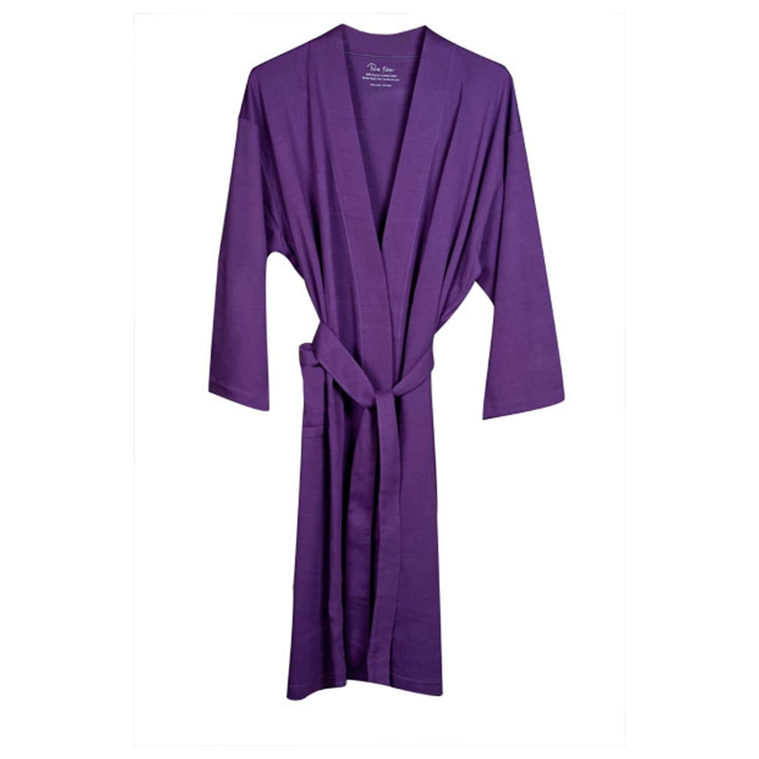 Women's Purple Organic Cotton Bath Robe - Thumbnail 0