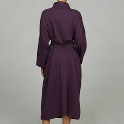 Women's Purple Organic Cotton Bath Robe - Thumbnail 1
