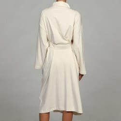 Women's Ecru Organic Cotton Bath Robe - Thumbnail 1
