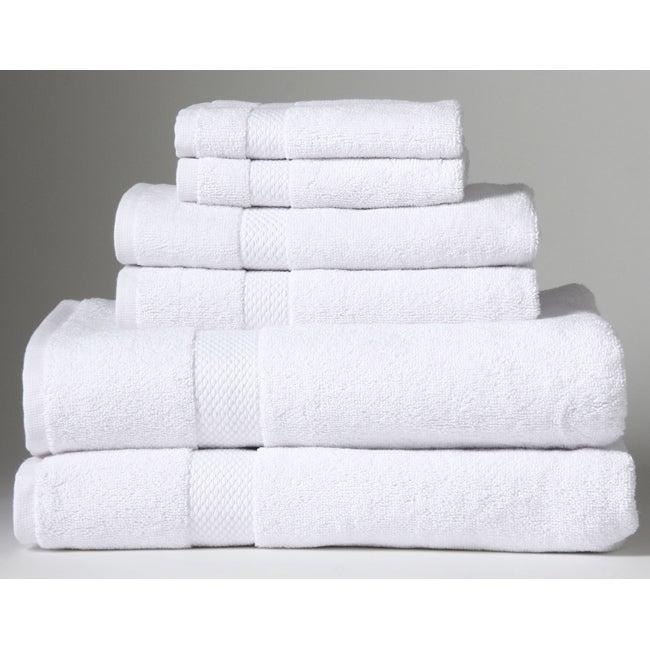 Turkish Organic Cotton White 6-piece Towel Set