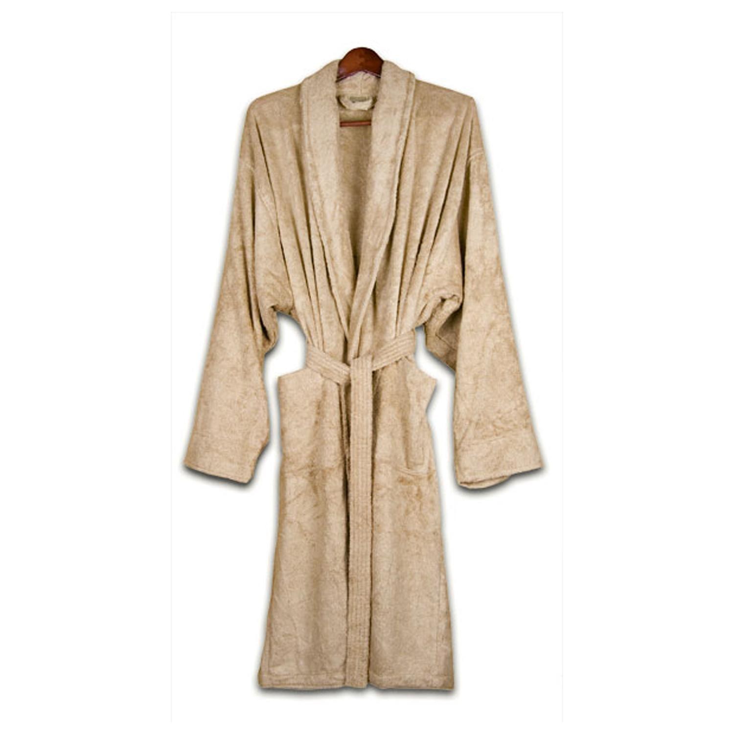 Unisex Turkish Organic Cotton Terry Bath Robe - Au Natural