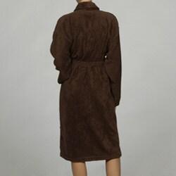 Unisex Turkish Organic Cotton Terry Bath Robe - Chocolate - Thumbnail 1