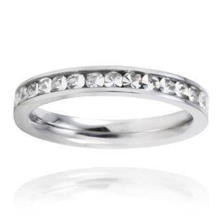 Stainless Steel Crystal Polished Eternity Band|https://ak1.ostkcdn.com/images/products/5301723/Stainless-Steel-Crystal-Polished-Eternity-Band-P13112063.jpg?impolicy=medium