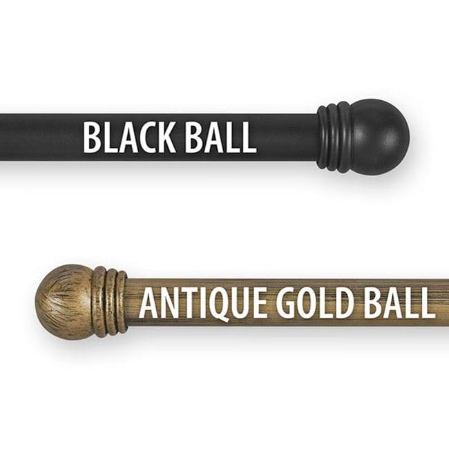 Pinnacle Simply Elegant 28 to 50-inch Adjustable Curtain Rod Set