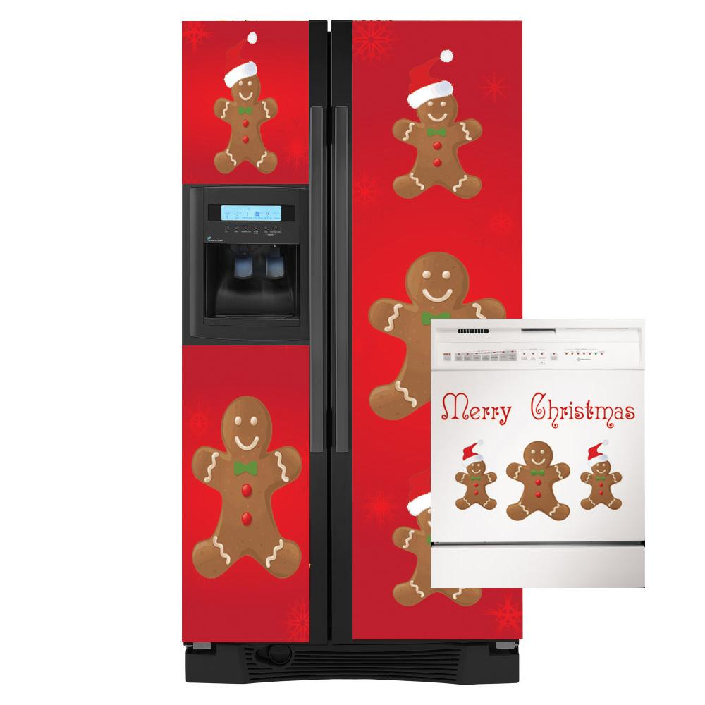 Appliance Art Holiday Gingerbread Man Combo Refrigerator/ Dishwasher Cover