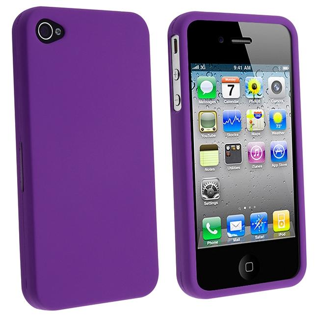 Dark Purple Snap-on Rubber Coated Case for Apple iPhone 4