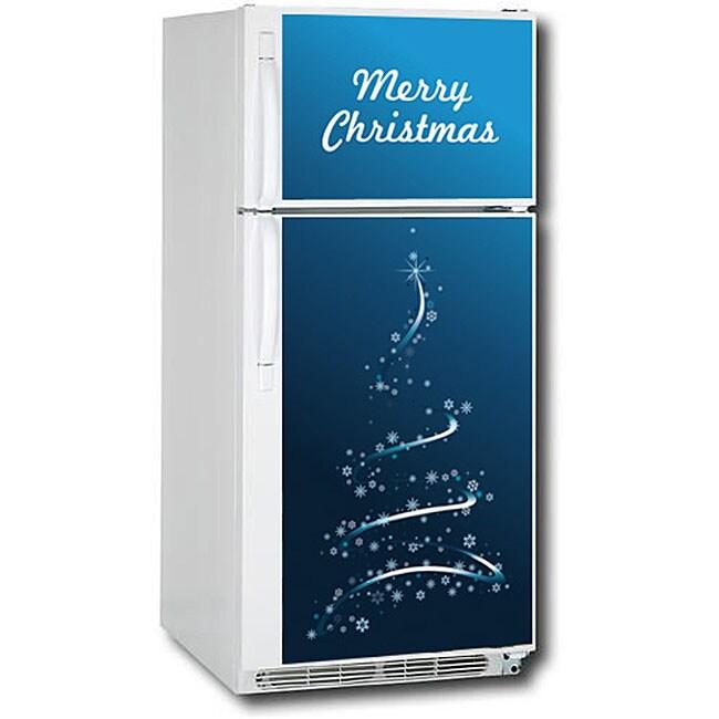 Appliance Art Christmas Tree Refrigerator Cover