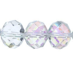 Crystale Crystal and Glass Bead Stretch Bracelet - Thumbnail 1