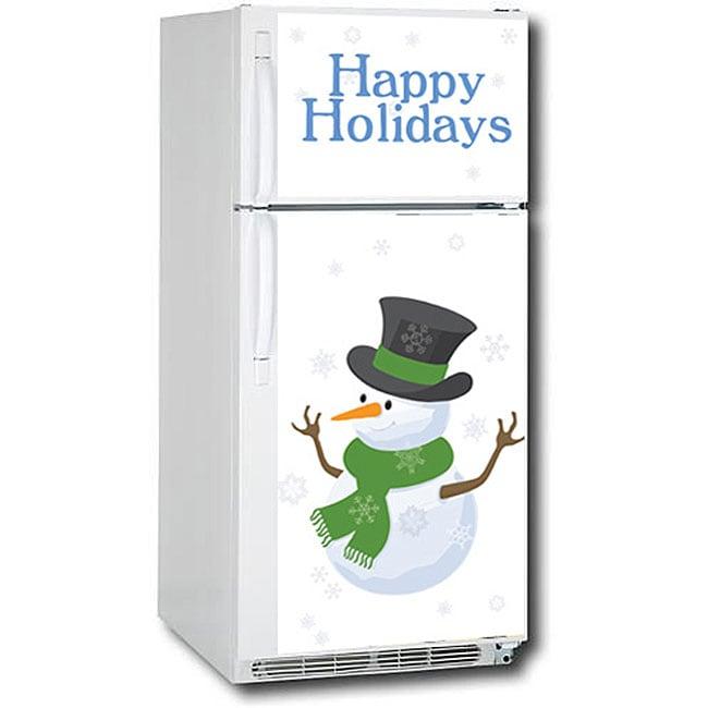 Appliance Art Snow Men Refrigerator Cover