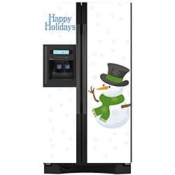 Appliance Art Snow Men Refrigerator Cover - Thumbnail 1