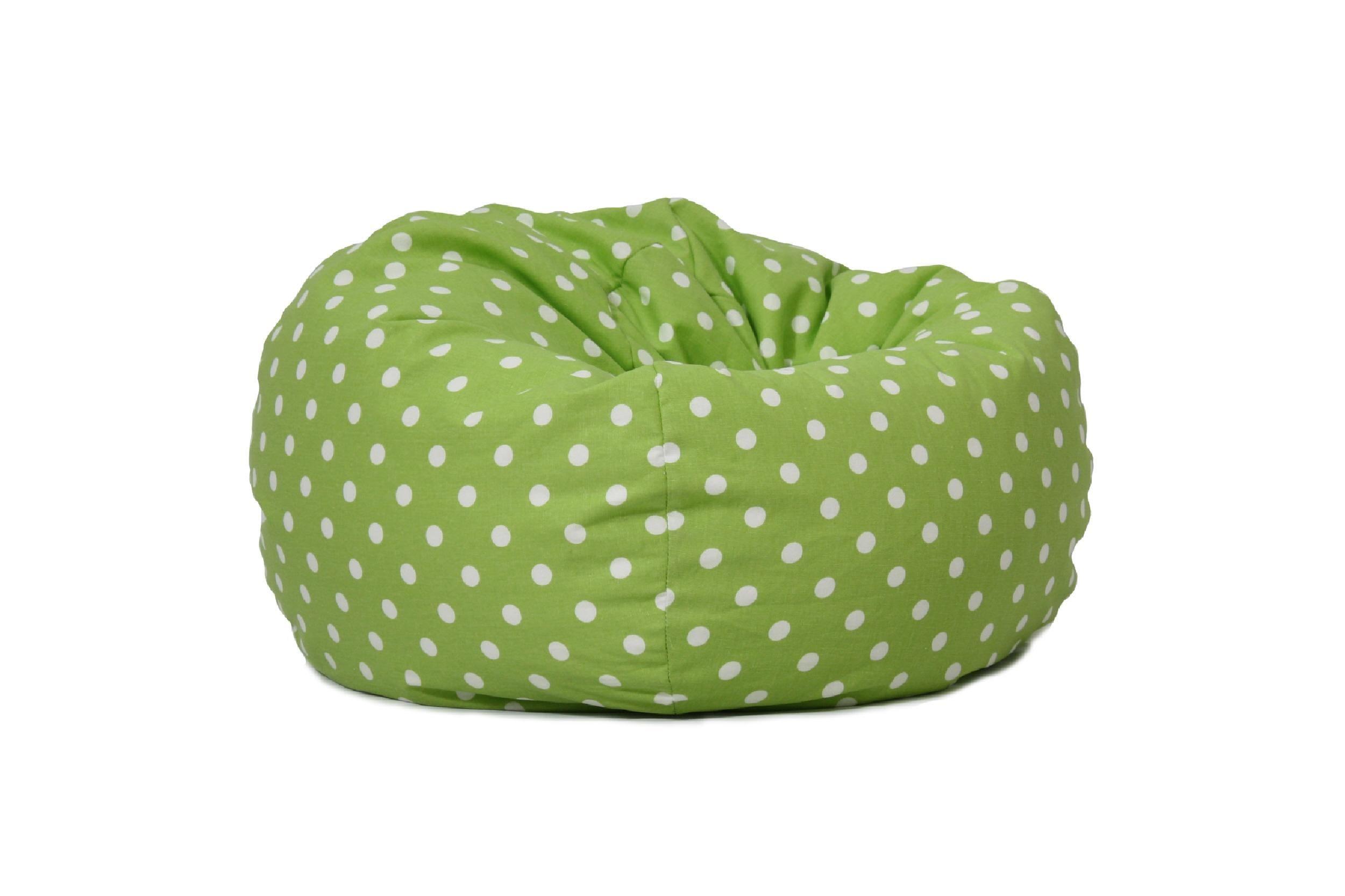 BeanSack Polka Dot Green Bean Bag Chair