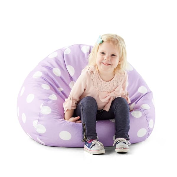 Excellent Shop Big Joe Classic 88 Inch Purple W White Dots On Sale Forskolin Free Trial Chair Design Images Forskolin Free Trialorg