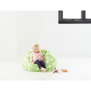 BeanSack Polka Dot Green Bean Bag Chair