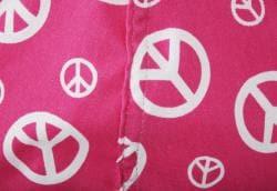 BeanSack Peace Sign Pink Bean Bag Chair