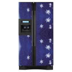 Appliance Art Snow Flakes Refrigerator Cover - Thumbnail 1
