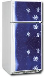 Appliance Art Snow Flakes Refrigerator Cover - Thumbnail 2