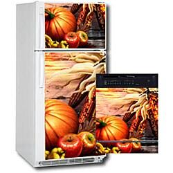 Appliance Art Fall Harvest Combo Refrigerator/ Dishwasher Covers - Thumbnail 1