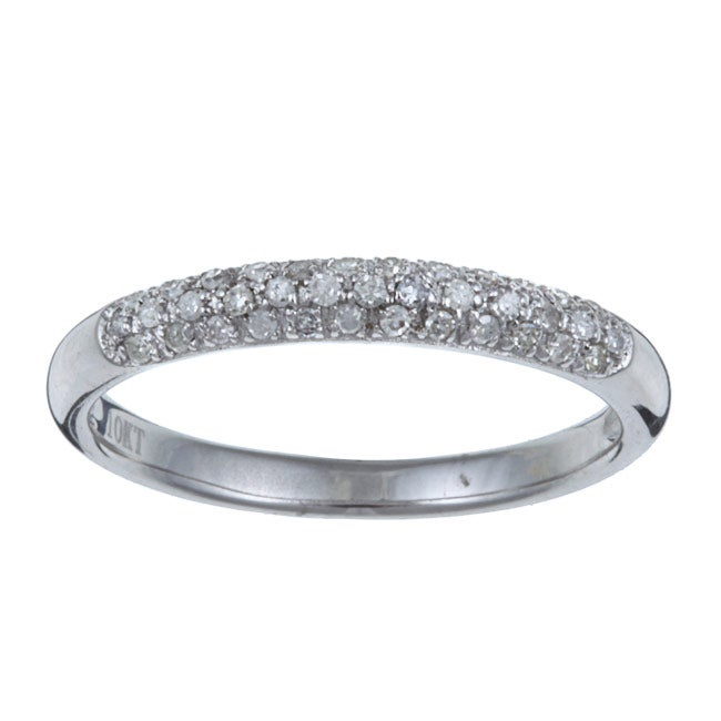 10k White Gold 1/5 TDW Diamond Ring (I-J, I2-I3)