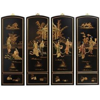 Handmade Ladies Soapstone Wall Plaques (China)