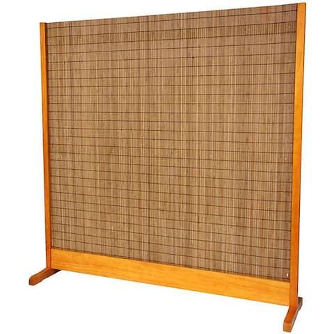 Handmade Tobacco and Bamboo Honey Room Divider