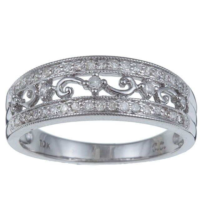 10k White Gold 1/3ct TDW Diamond Ring