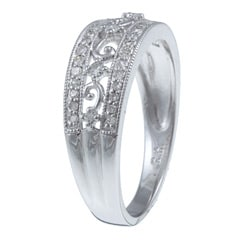 10k White Gold 1/3ct TDW Diamond Ring - Thumbnail 1