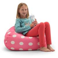 Big Joe BeanSack Pink Polka-dot Bean Bag Chair