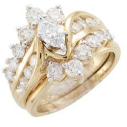 14k Yellow Gold 2ct TDW Diamond Bridal Ring Set (H-I, I1-I2)