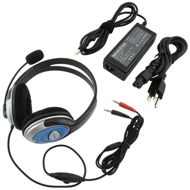 INSTEN Travel Charger/ Hands-free Stereo Headset for HP Pavilion/ Compaq - Thumbnail 0