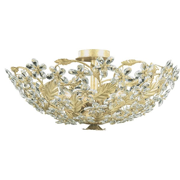 Crystorama Paris Flea 6-light Flush-mount Chandelier