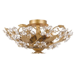 Crystorama Paris Flea 6-light Champagne Flush Mount